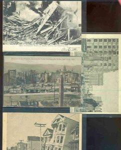 pc9241 postcard San Francisco Earthquake Damage FOUR 1 used 3 not