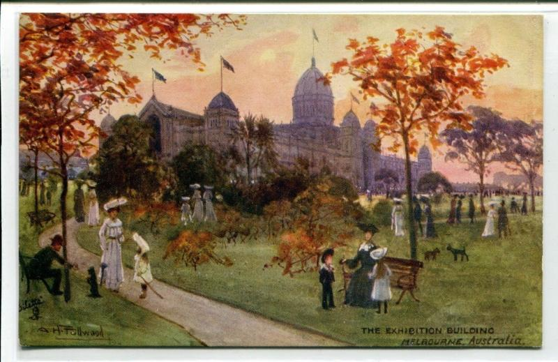 The Exhibition Building Melbourne Victoria Australia 1910c Tuck postcard