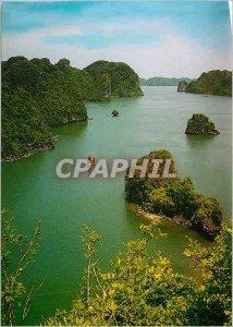 Post Modern Halong Bay Vietnam Card along Bay (top view)