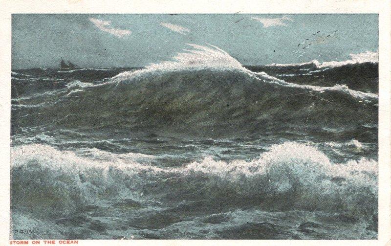 US    PC2483  STORM ON THE OCEAN, OCEAN GROVE, NC