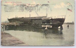 Receiving Ship Wabash, at the Charleston Navy Yard - 1910