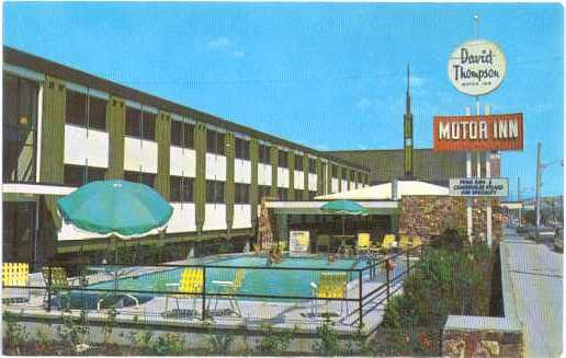 David Thompson Motor Inn, 650 Victoria St, Kamloops, British Columbia, chrome