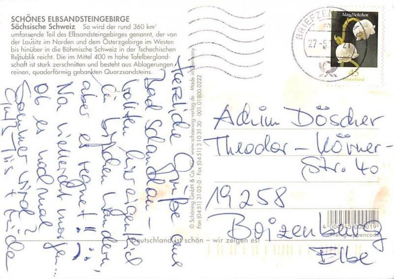 Gruesse aus der Saechsischen Schweiz, Basteibruecke Felsen Schiff Falkenstein