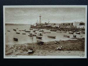 Kent MARGATE Harbour & Lighthouse - Old Postcard by A.H.& S. LP203