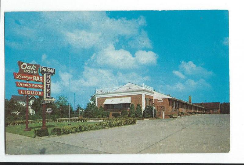 Vintage Rare Postcard Parma Hotel Oak Room Restaurant And Lodge Ohio 51