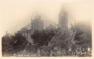 Canton South Dakota~Lincoln County Court House~Clock Tower~c1915 Kruxo RPPC