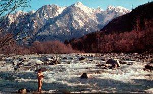 Washington Mount Index Fishing On The Skykomish River 1961