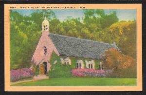 Wee Kirk of the Heather Church Glendale California Used c1950