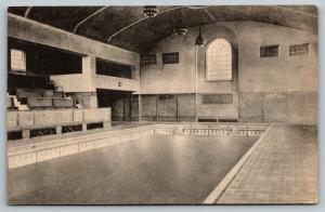 Hanover New Hampshire~Dartmouth College~Spaulding Pool Interior~1920s Albertype