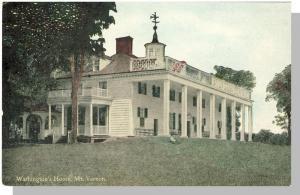 Early Mount Vernon, Virginia/VA Postcard, Washington's Home