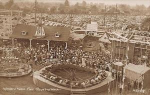 Puyallup Western Washington Fair Rides Old Cars Real Photo Postcard