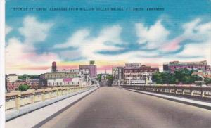 Arkansas Fort Smith View From Million Dollar Bridge 1955