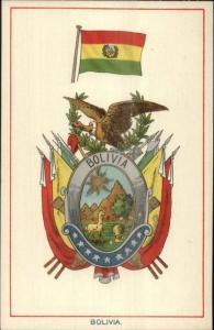 BOLIVIA Heraldic Crest EFA E.F.A. Series Coat Arms c1910 Postcard EXC COND
