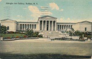 Buffalo NY, New York - Fountain at Albright Art Gallery - pm 1912 - DB