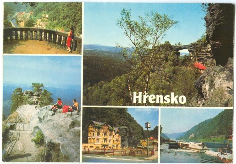 Czech Republic, Hrensko, 1982 used Postcard