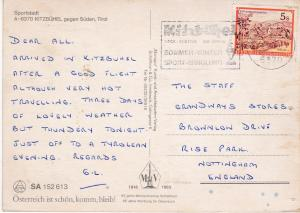 Post Card Austria Tirol Kitzbuhel gen Suden