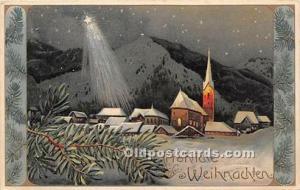 Christmas Holiday Postcard PFB Writing on Back