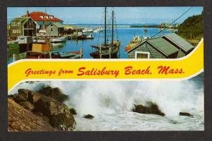 MA Greeting from SALISBURY BEACH MASSACHUSETTS Postcard