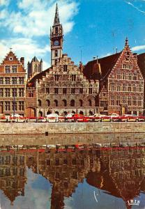 Belgium Gent Graslei Ghent Graslei Quai aux Herbes Cars Voitures