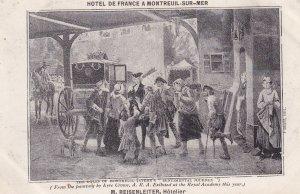 MONTREUIL SUR MER, Pas De Calais, France, 1900-1910s; Hotel De France A Montr...
