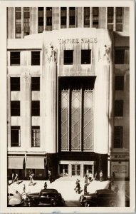 No. 31 Front Entrance Empire State Building New York NY c1948 RPPC Postcard F37