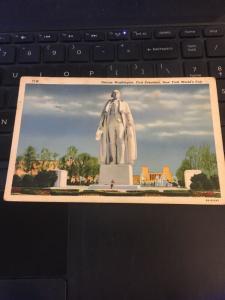 Vintage Postcard; George Washington, First President, NY World's Fair