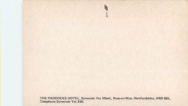 The Paddocks Hotel , Symonds Yat Ross-on-Wye , Herefordshire