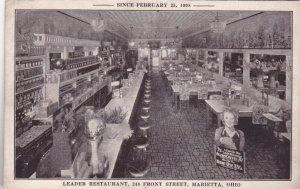 Ohio Marietta Leader Restaurant Interior Front Street sk2495