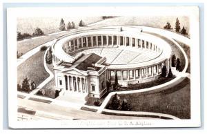 Postcard Memorial Amphitheater from USA Airplane Arlington, VA RPPC H7.2