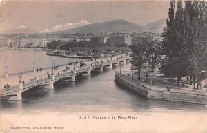 Switzerland Old Vintage Antique Post Card Mont Blanc 1909