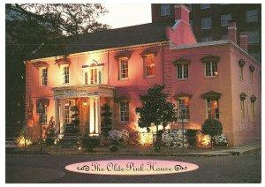 Le Vieux Rose Maison Savannah, Géorgie de Nuit Carte Postale