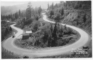 RP, Horse-Shoe Curve On Siskiyou Mountains, California, PU-1931