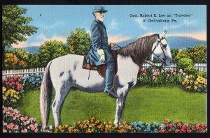 Pennsylvania ~ Gen. Robert E. Lee on Traveler at GETTYSBURG - LINEN