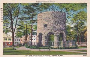 Rhode Island Newport The Old Stone Mill 1947