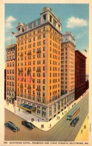 Maryland Baltimore Southern Hotel Curteich