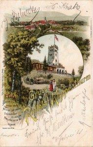 CPA AK Gruss vom RINTELER Klippenturm LITHO GERMANY (865273)