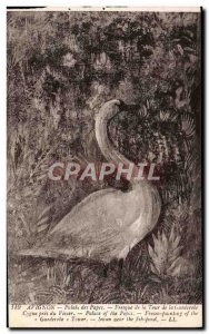 Old Postcard Avignon Popes' Palace Mural of the tower of the Wardrobe Swan ne...