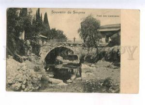 233183 TURKEY SMYRNE IZMIR Pont des Caravanes Vintage PC