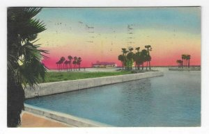 1937 Municipal Pier, St Petersburg, Florida Hand-Colored Postcard