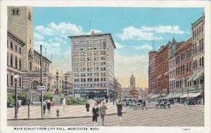Massachusetts Worcester Main Street From City Hall Curteich