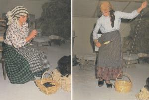 Portugal Women Crafts Wool Stretching & Thinning Postcard