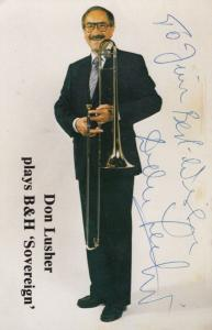 Don Lusher of The Ted Heath Band Hand Signed Photo