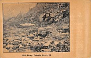 FRANKLIN GROVE ILLINOIS~MILL SPRING 1900s POSTCARD