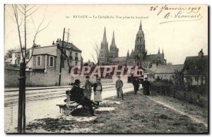 Old Postcard Bayeux Cathedral View Boulevard jack