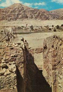 Jericho Mount of Temptation & Wall of Jericho, Israel, Holy Lane Postcard Z40