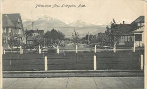 Livingston MT A-Frame House w/Turret on Yellowstone Ave Towards the Mts 1909