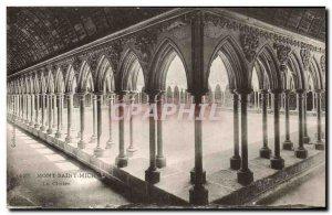 Old Postcard Mont Saint Michel Le Cloitre