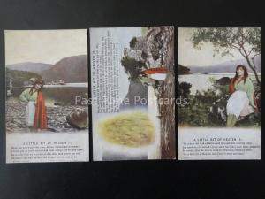 WW1 A LITTLE BIT OF HEAVEN Bamforth Song Cards set of 3 No 4883 1/2/3