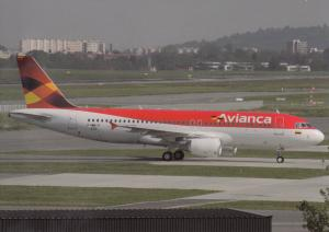 AVIANCA, A320-232, unused Postcard