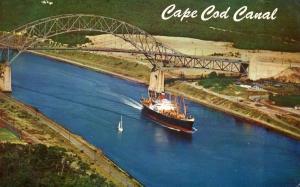 MA - Sagamore, Cape Cod. Sagamore Bridge, Canal